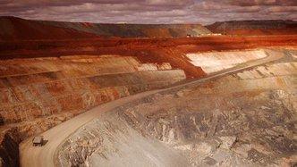 wide angle mine cut earth