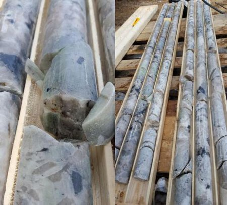 Cores from Seymour Lake drilling