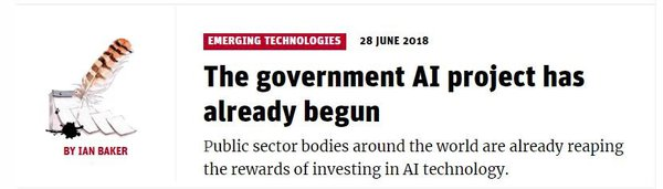 Governments around the world are adopting AI technologies to improve efficiencies.