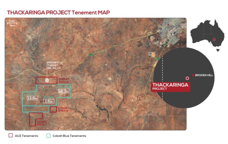 Thackaringa tenement map