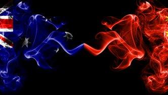 Australia-China relations sour, US markets soar, ASX futures up 15 points