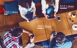 social influence media social facebook likes