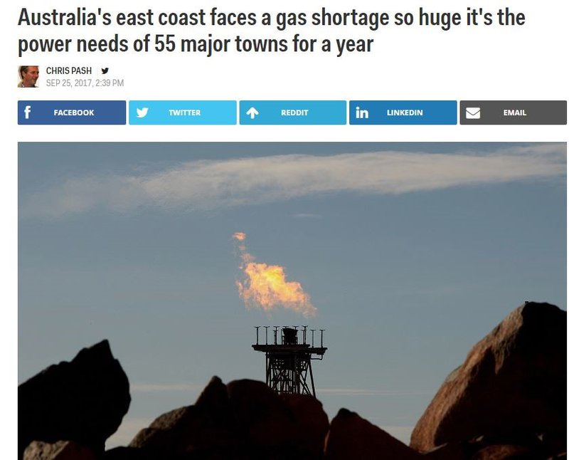 gas shortage in australia