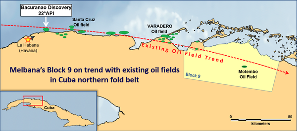 May's Block 9 is on trend with existing oil fields.