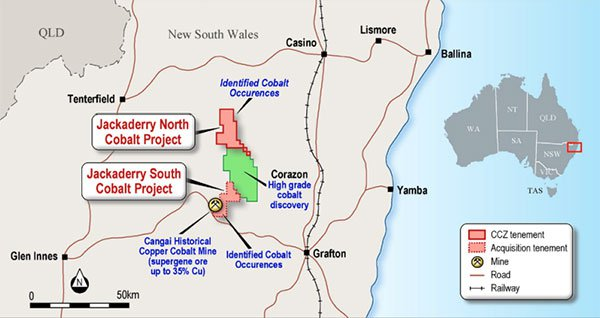 Jackaderry cobalt project