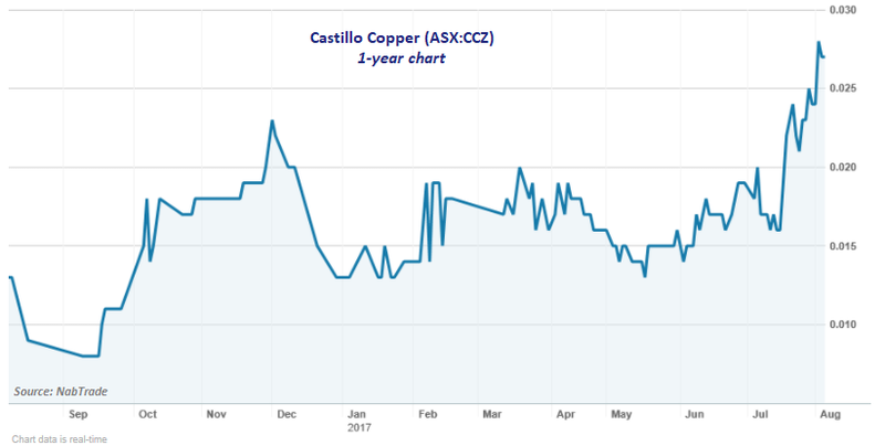Castillo Copper share price