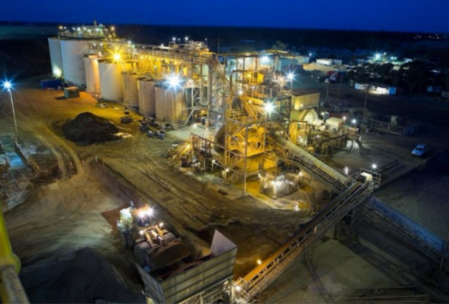 Mining processing plant