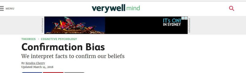 Confirmation bias theory