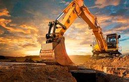 Horizon sun excavation mining truck