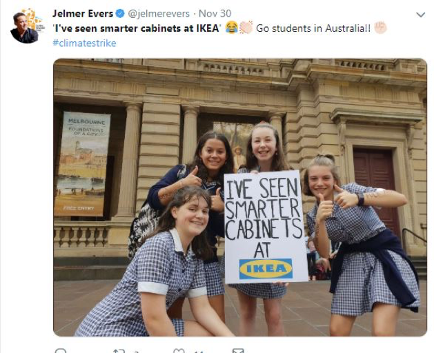 Australian schoolchildren protesting for action on climate change.