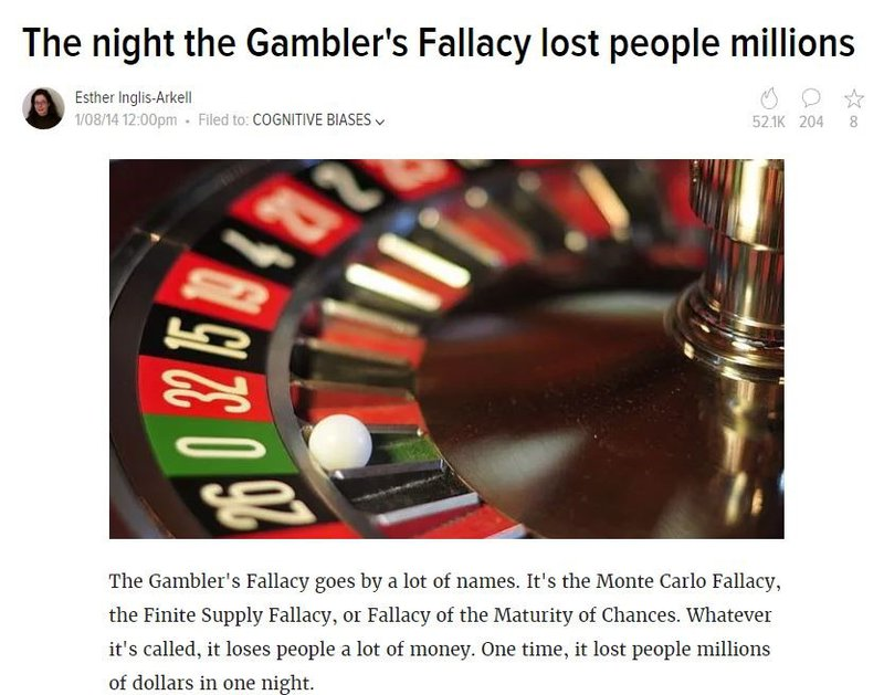 Gambler's fallacy theory