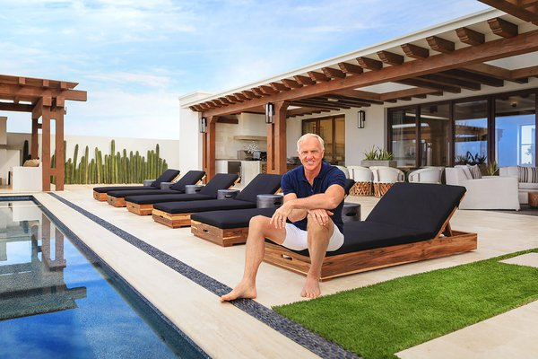 Greg Norman at the opening of Rancho San Lucas.