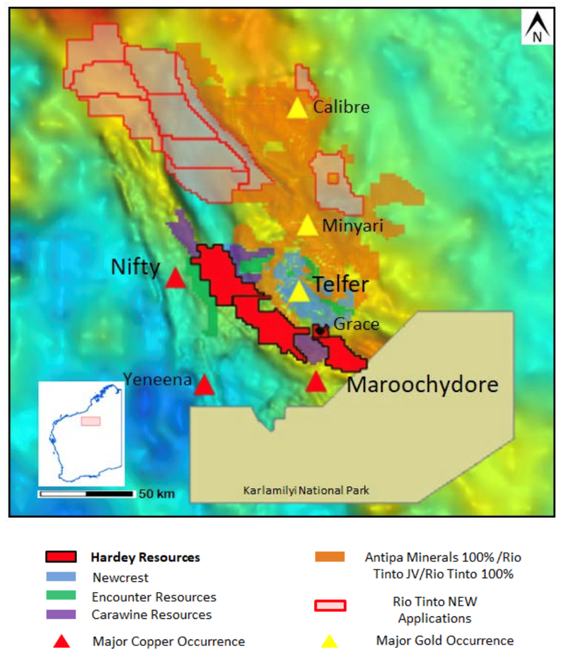 hardey resources western australia