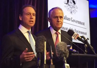 Greg Hunt with Malcolm Turnbull