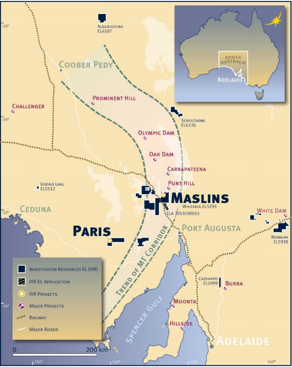 The Maslins project is situated in the heart of the IOCG corridor.