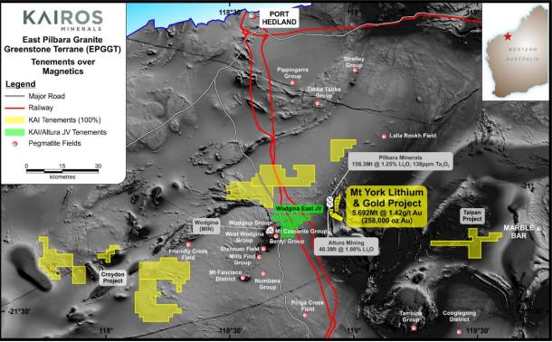 kairos minerals pilbara tenements