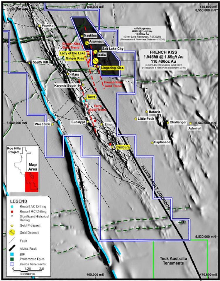 Roe Hills mineralisation