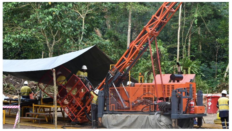 Misima project diamond drill rig