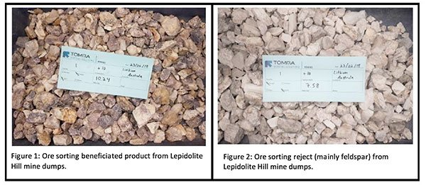 Lithium australia ore sorting results