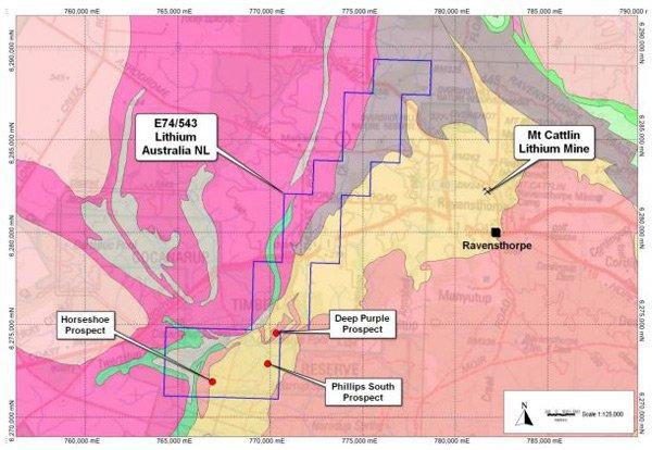 Location of Lithium Australia's (ASX:LIT) Ravensthorpe project.