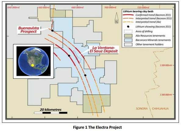 The Electra lithium project in Mexico