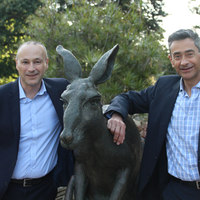 Lui Pangirarella (L) Akram Sabbagh (R) and Roo.