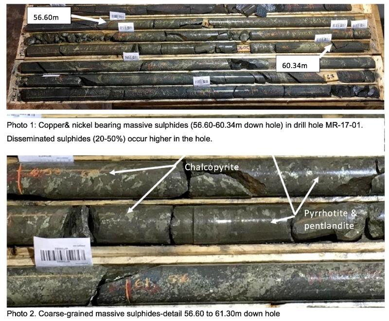 meteoric drill samples mulligan