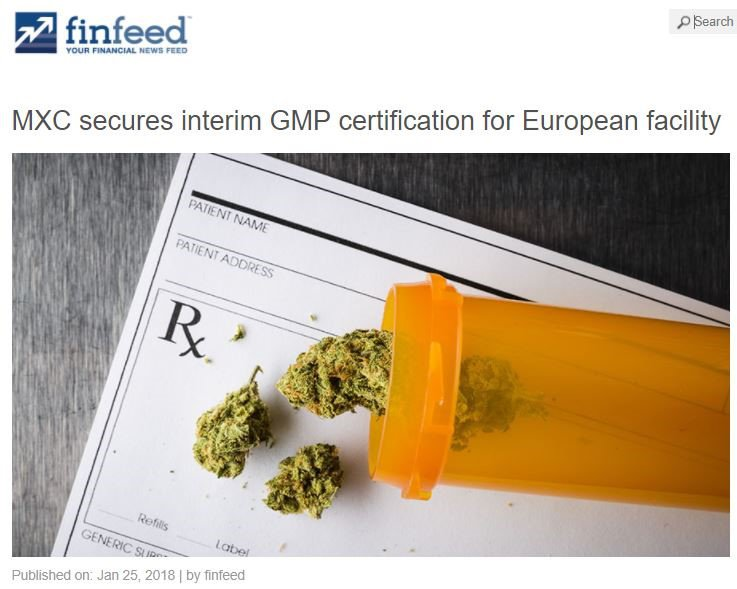 mxc pharma gmp certification
