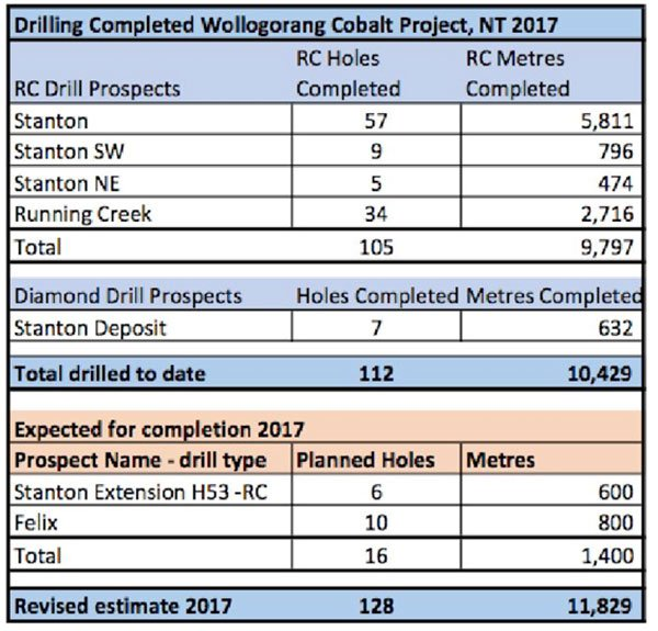 Northern cobalt drill results