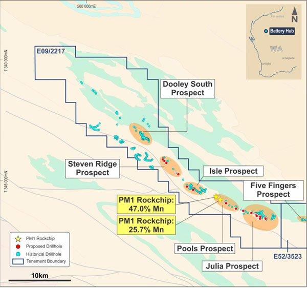 Dooley prospect pure minerals