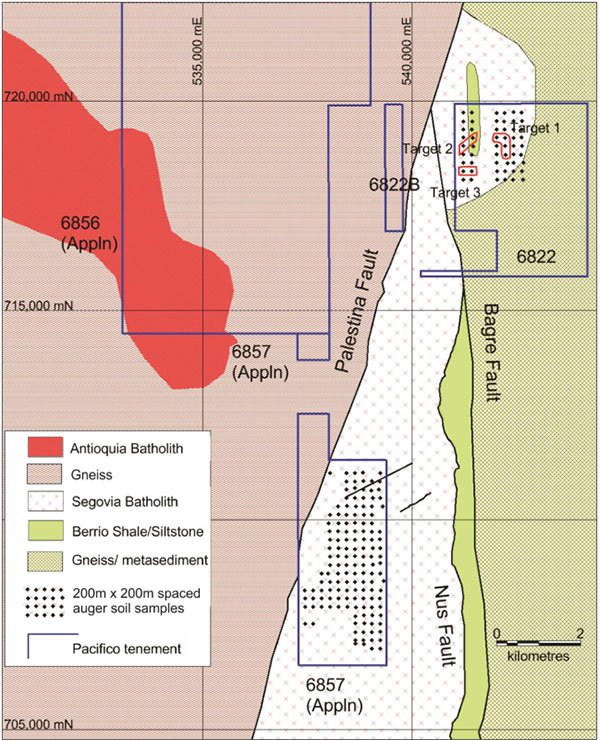 pacifico minerals project map