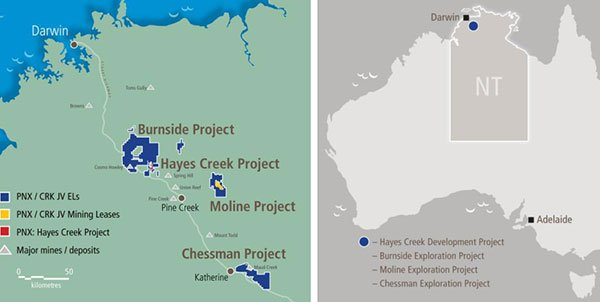 Burnside and Hayes creek projects map
