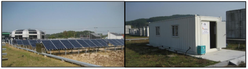 20kW solar PV integrated with two 25kW V-KOR battery and the electricity grid in a field test site at Seosan-si in Korea.