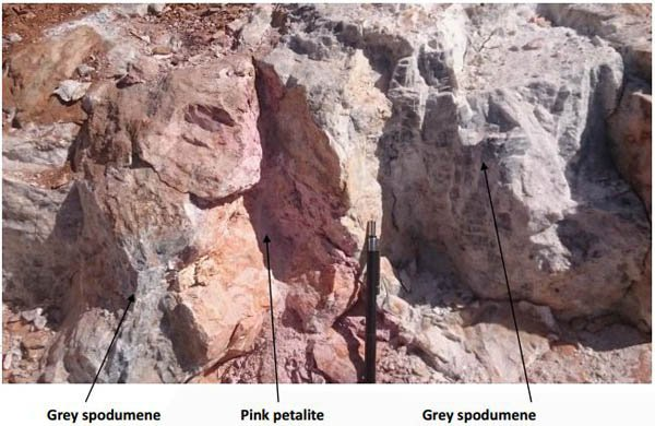 PSC lithium rock