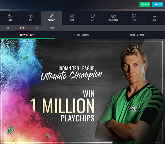 Brett lee playup ambassador
