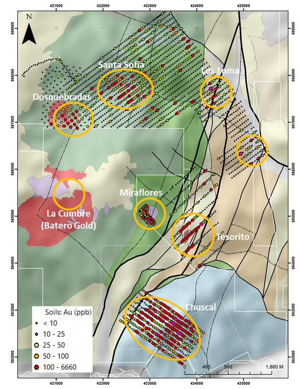 Dosquebradas is part of the Quinchia Project which also hosts the Miraflores Reserve and Chuscal and Tesorito Prospects