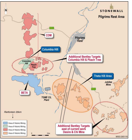 Theta hill prospect map