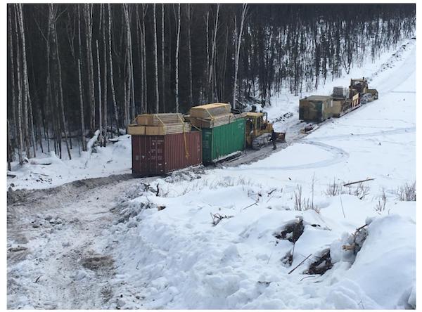 rig camp site snow alaska