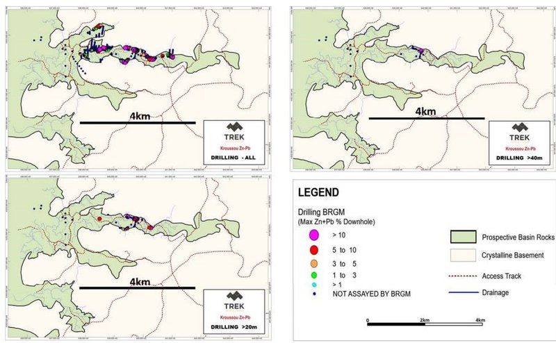 Kroussou drilling map