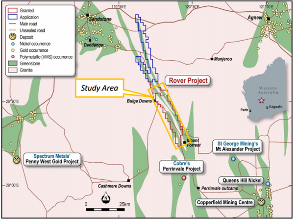 TSC holds the Rover project in a highly prolific gold exploration and discovery zone.