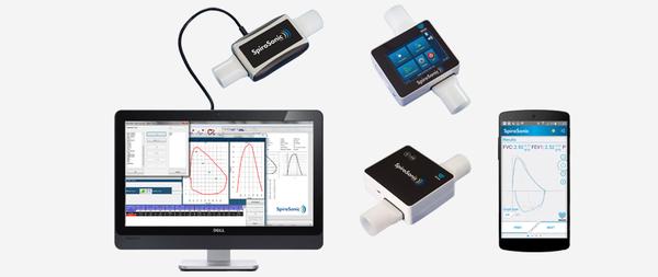 The Uscom SpiroSonic digital multi-path ultrasonic spirometer.