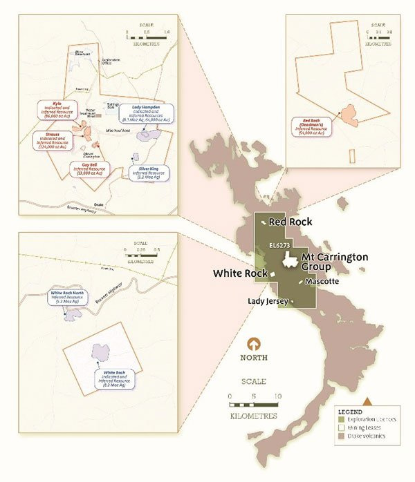 white rock minerals jorc resource
