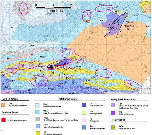 white rock minerals tundra flats