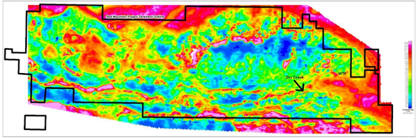 WRM's survey AEM shows conductivity features associated with volcanogenic massive sulphide (VMS) mineralisation at the Dry Creek and WTF deposits.