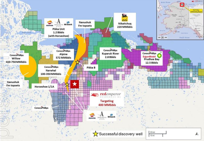 Winx-1 exploration well, Western Blocks, Pikka B well, Alaska North Slope and Nanushuk Fairway