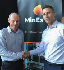 MinEx CRC CEO Andrew Bailey and SER director David DeTata.
