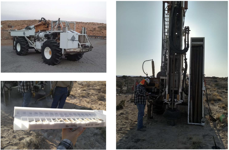 Buggy Drill Rig – Uranium Drilling on Section 36, Henry Mountains Utah.