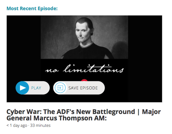 Interview with Major General Marcus Thompson AM.