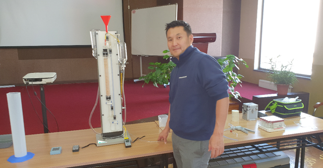 Training seminar on desorption equipment in Ulaanbaatar, Mongolia