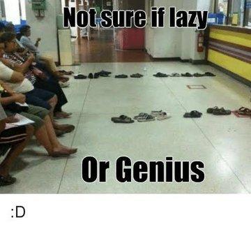 I say genius.